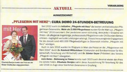 """""""Pflegerin mit Herz"""" 2016"""