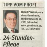 Zeitungsausschnitt NÖN Baden 2015