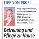 Zeitungsausschnitt NÖN 2016