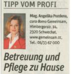 Zeitungsausschnitt NÖN 2015