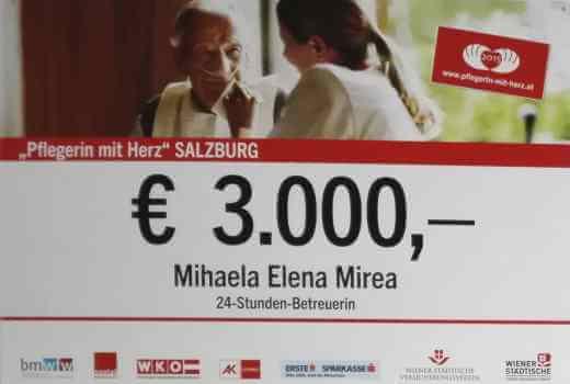 """""""Pflegerin mit Herz"""" für Salzburg 2015"""