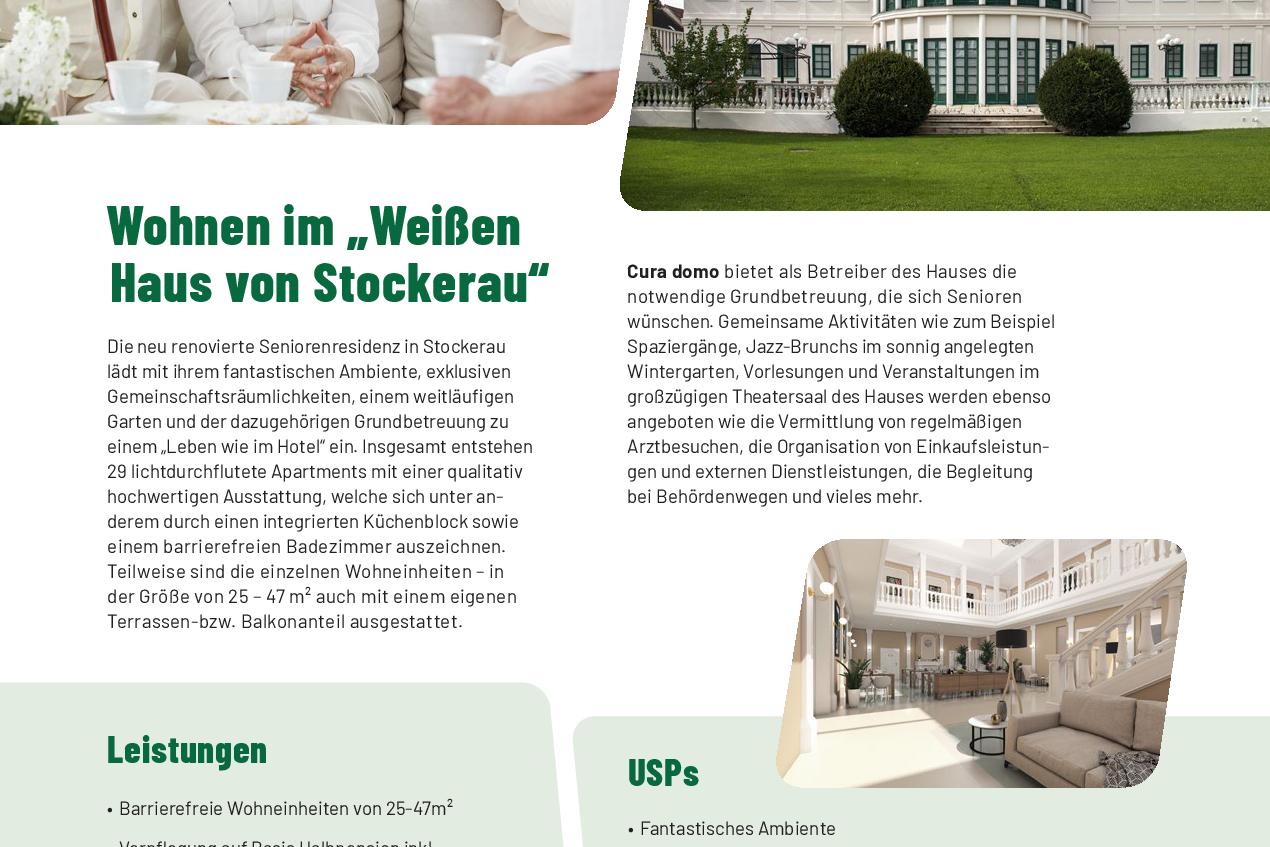 Seniorenresidenz Stockerau - Informationsblatt